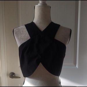 Cute back zipper closure crop top